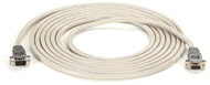 Black Box RS232 Shielded Null Modem Cable w/ Metal Hoods DB9M/F 15Ft. EYN257T-0015-MF