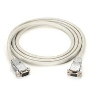 Black Box RS232 Shielded Null Modem Cable w/ Metal Hoods DB9M/M 10Ft. EYN257T-0010-MM