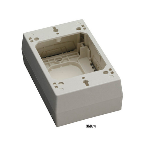 Black Box 2-Piece Raceway Surface-Mount Box - Single-Gang, Ivory 36974