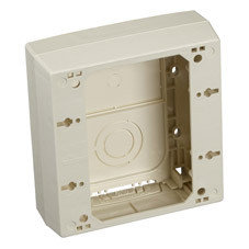 Black Box 2-Piece Raceway Surface-Mount Box, Double-Gang, Ivory 36975