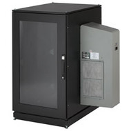 Black Box ClimateCab NEMA 12 Server Cabinet with M6 Rails and 5000-BTU AC Unit - CC24U5000M63123-R2