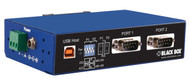 Black Box Industrial USB to RS232, RS422/485 Converter, DB9, 2-Port ICD120A