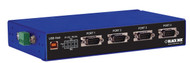 Black Box USB TO RS232, RS422/485 CONVERTER DB9 4 PORT INDUSTRIAL ICD140A