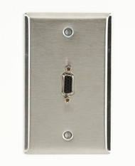 Black Box A/V Stainless Wallplate - Single-Gang, (1) VGA HD15 F/F Feed-Through C WPVGA03-R2