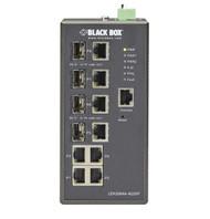 Black Box Industrial Managed Gigabit Ethernet Switch - 4-Port RJ-45, 4-Port LEH2004A-4GSFP