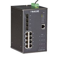 Black Box Industrial Managed Gigabit Ethernet PoE+ Switch - 8-Port RJ-45, 4-Port LPH2008A-4GSFP