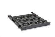 Black Box Rackmount Fan Tray -- 2U with (9) 75 CFM Fans and Guards RM8009