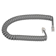 Black Box Telephone Coiled Handset Cord Dark Gray 25Ft. EJ302-0025
