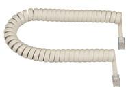 Black Box 6-ft. Cream Coiled Telephone Handset Cord EJ307-0006