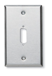 Black Box Stainless Steel Wallplate, DB15, Single-Width, 1-Punch WP080