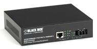 Black Box PoE PSE Gigabit Media Converter, Multimode LC, 550 m LPS500A-MM-LC
