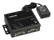 Black Box 2-Port 10/100 Device Server - RS-232/422/485, DB9 M, Kit LES302A-KIT