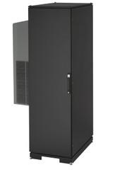 Black Box NEMA 12 Cabinet 1200BTU AC 42U 82.3 x42.9x 33.7 Tapped Rails 230V CC42U12000T-230-R2