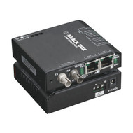 Black Box Hardened Media Converter Switch, 10-/100-Mbps Copper to 100-Mbps Fiber LBH100A-H-SC-12