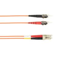 Black Box 5m (16.4ft) STLC OR OM1 MM Fiber Patch Cable INDR Zip OFNR FOCMR62-005M-STLC-OR
