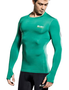COMPRESSION JERSEY L/S GREEN [FROM: $48.00]