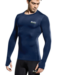 COMPRESSION JERSEY L/S NAVY [FROM: $48.00]