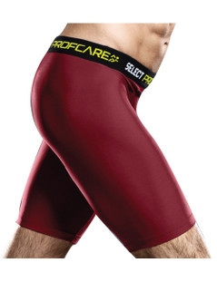 SUB COMPRESSION SHORT BURGUNDY