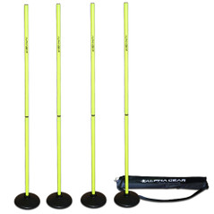 PACK OF POLES + 4 TURF BASES IN CARRY BAG [FROM: $70.00]