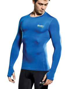 COMPRESSION JERSEY L/S ROYAL [FROM: $48.00]