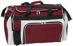 Super Classic Sports Bag Burgundy/White