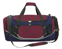 Atlantis Sports Bag Maroon/Navy/White/Charcoal