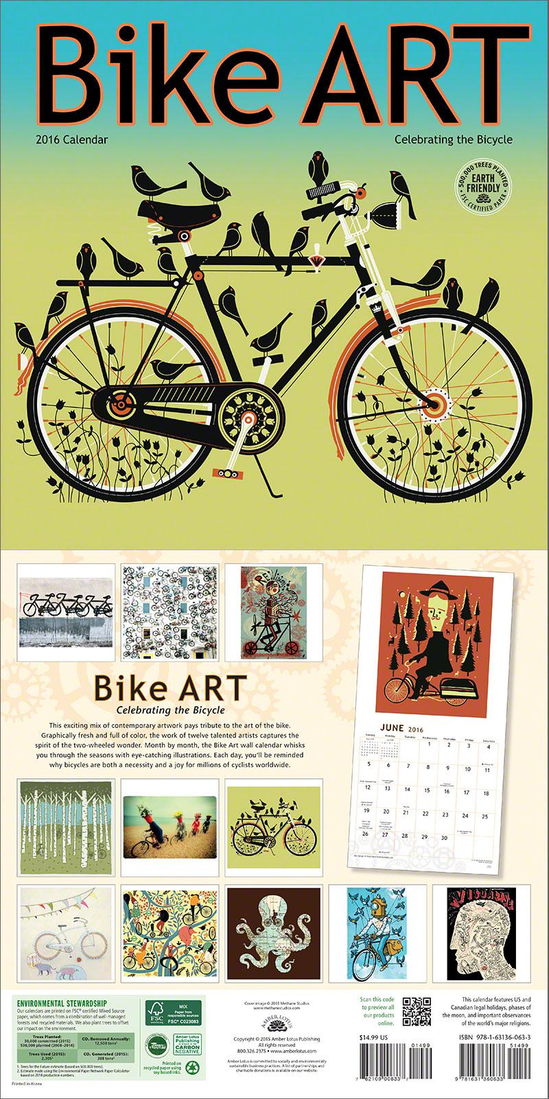 Bike Art 2016 wall calendar
