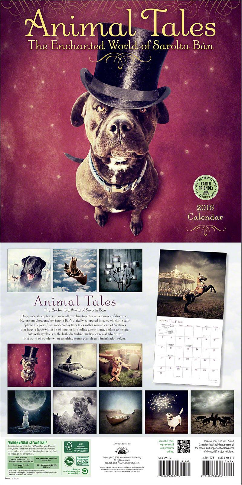 Animal Tales 2016 wall calendar