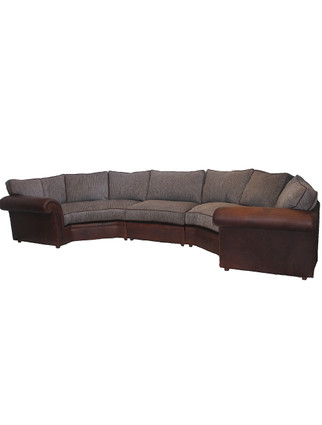 5940 Curved Arm Padded Arm Rexford Sectional