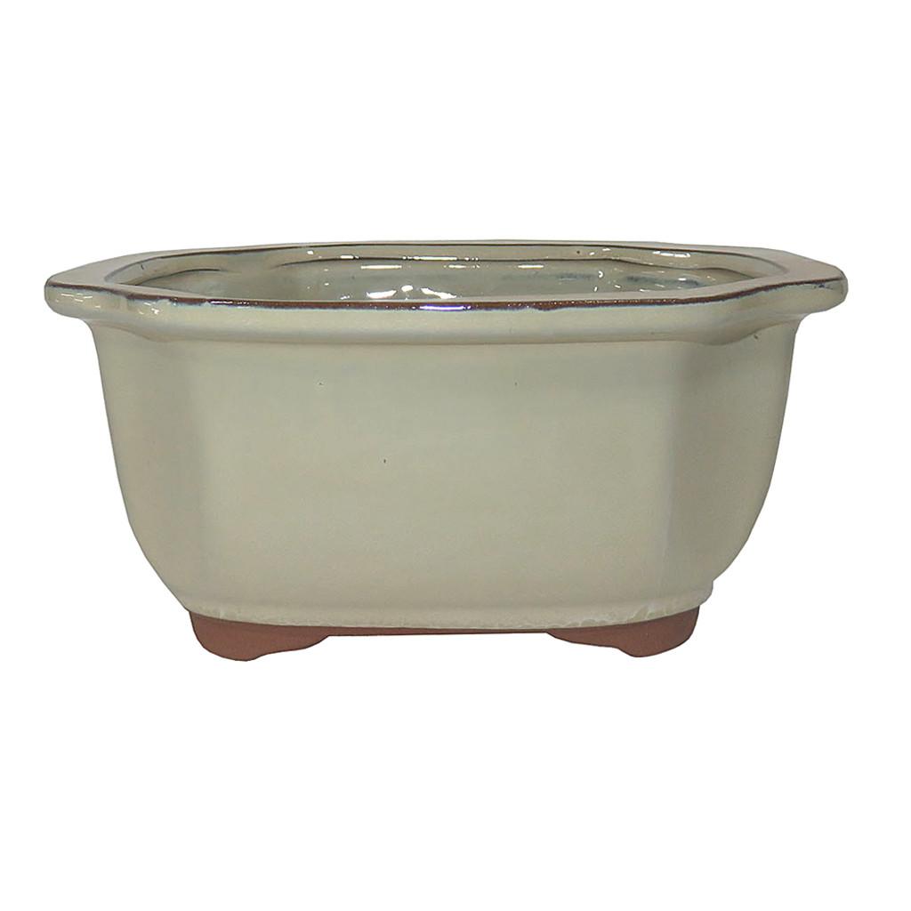 Glazed Lotus Bonsai Pot