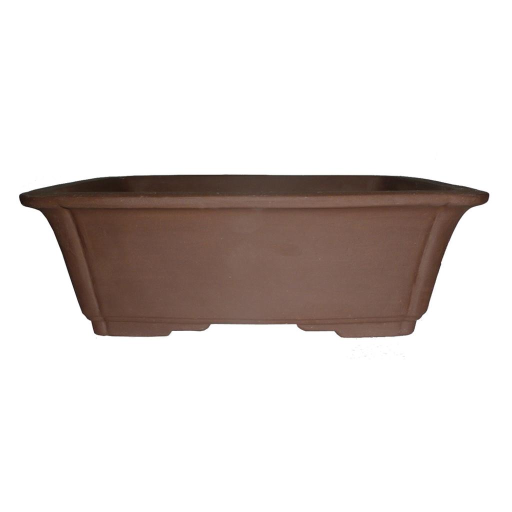 Unglazed Rectangular Bonsai Pot
