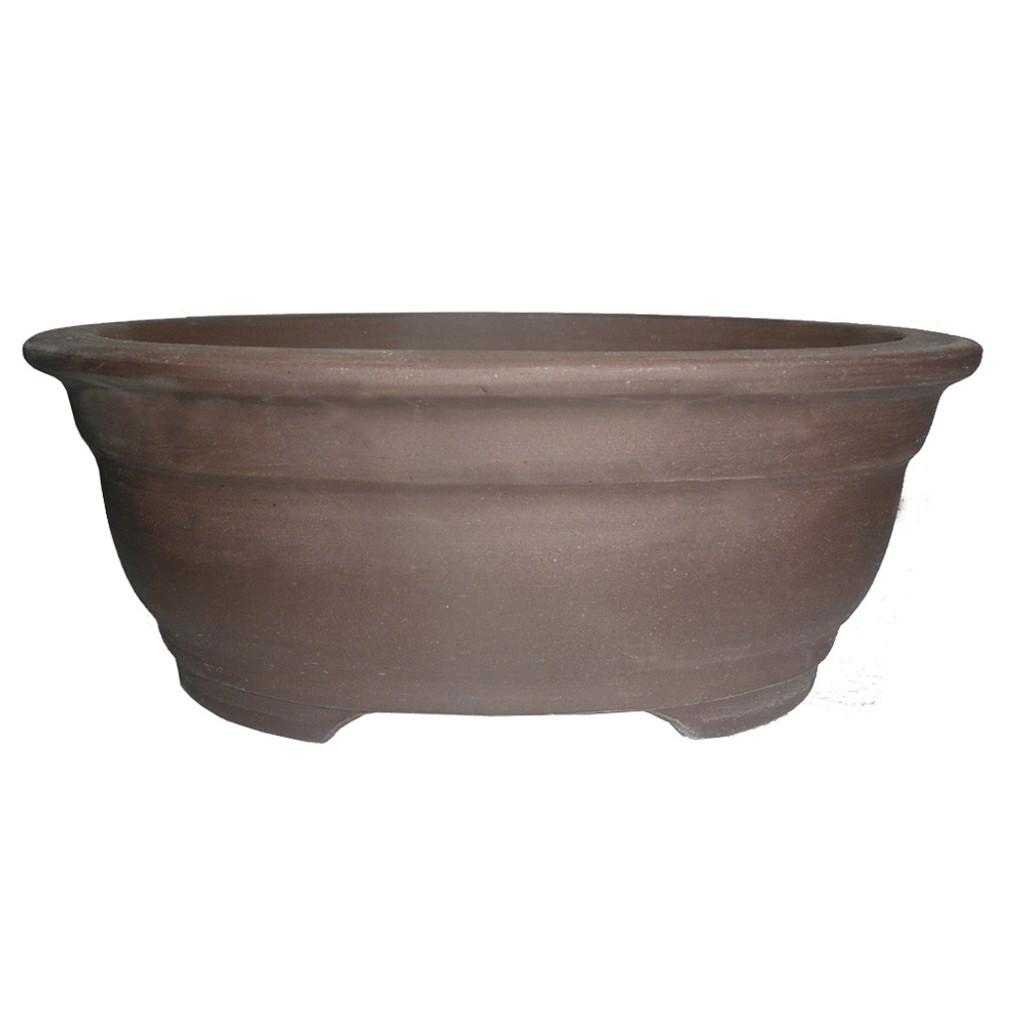 Unglazed Oval Bonsai Pot