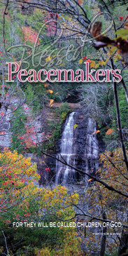Church Banner featuring Fall Waterfall with Peacemakers Theme from Beatitudes