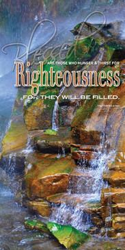 Church Banner featuring Running Water with Righteousness from Beatitudes Series