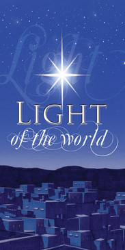 Church Banner featuring Light Of The World Christmas Theme