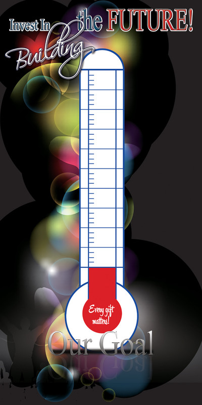 Church Banner featuring Thermometer for Building Fund Promotion - Customizable