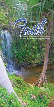 Church Banner featuring Tropical Paradise with Faith Theme