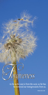 Church Banner featuring Blowing Dandelion with Forgiveness Theme