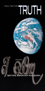Church Banner featuring Earth from Space with I Am Truth Theme