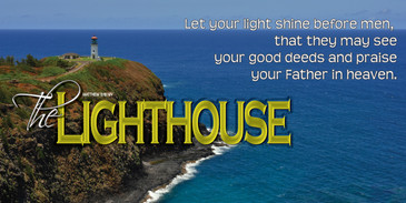 Church Banner featuring Kilauea Lighthouse with Encouragement Theme