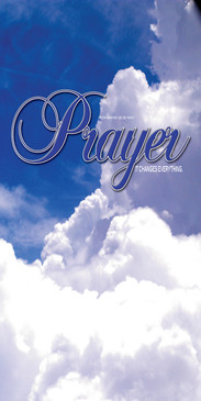 Church Banner featuring Fluffy White Clouds with Prayer Theme