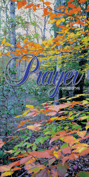 Church Banner featuring Colorful Fall Leaves with Prayer Theme