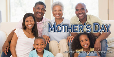Church Banner featuring African American Family with Life Groups Theme