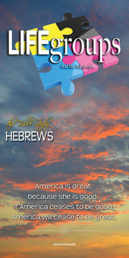 Church Banner featuring Sunlit Clouds with Life Groups Theme