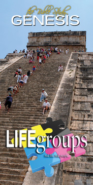 Church Banner featuring Chichen Itza Pyramid with Life Groups Theme