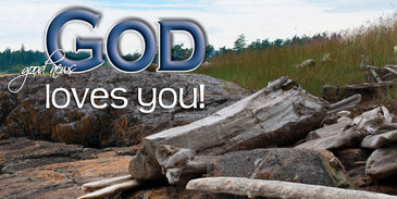 Church Banner featuring Driftwood with God Loves You Theme