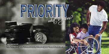 Church Banner featuring African American Family with Motivational Theme