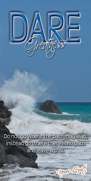 Church Banner featuring Crashing Waves with Dare Greatness Theme