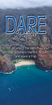 Church Banner featuring Ocean Inlet on Hawaii with Motivational Theme