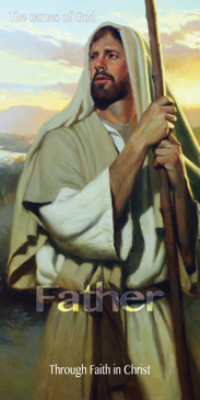 Church Banner featuring Shepherd Jesus with Through Faith In Christ Theme